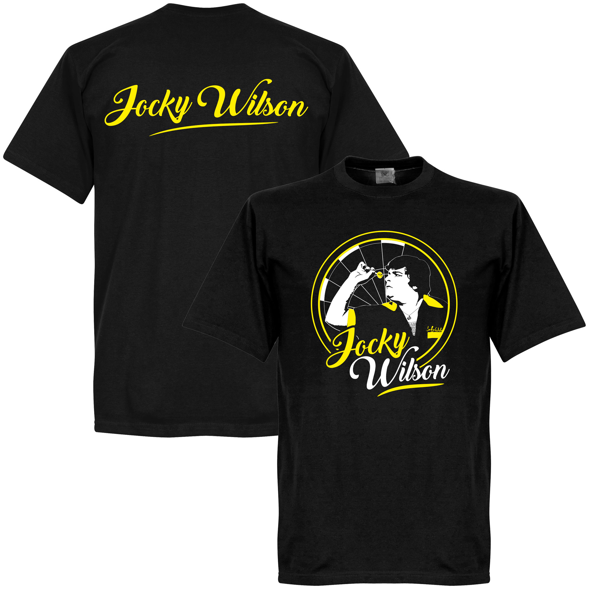 Jocky Wilson Darts T-Shirt - Zwart - S