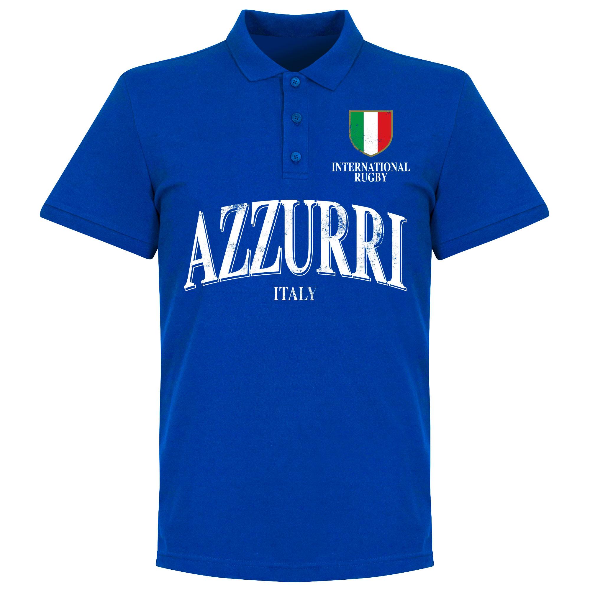 Italie Rugby Polo - Blauw - XXL