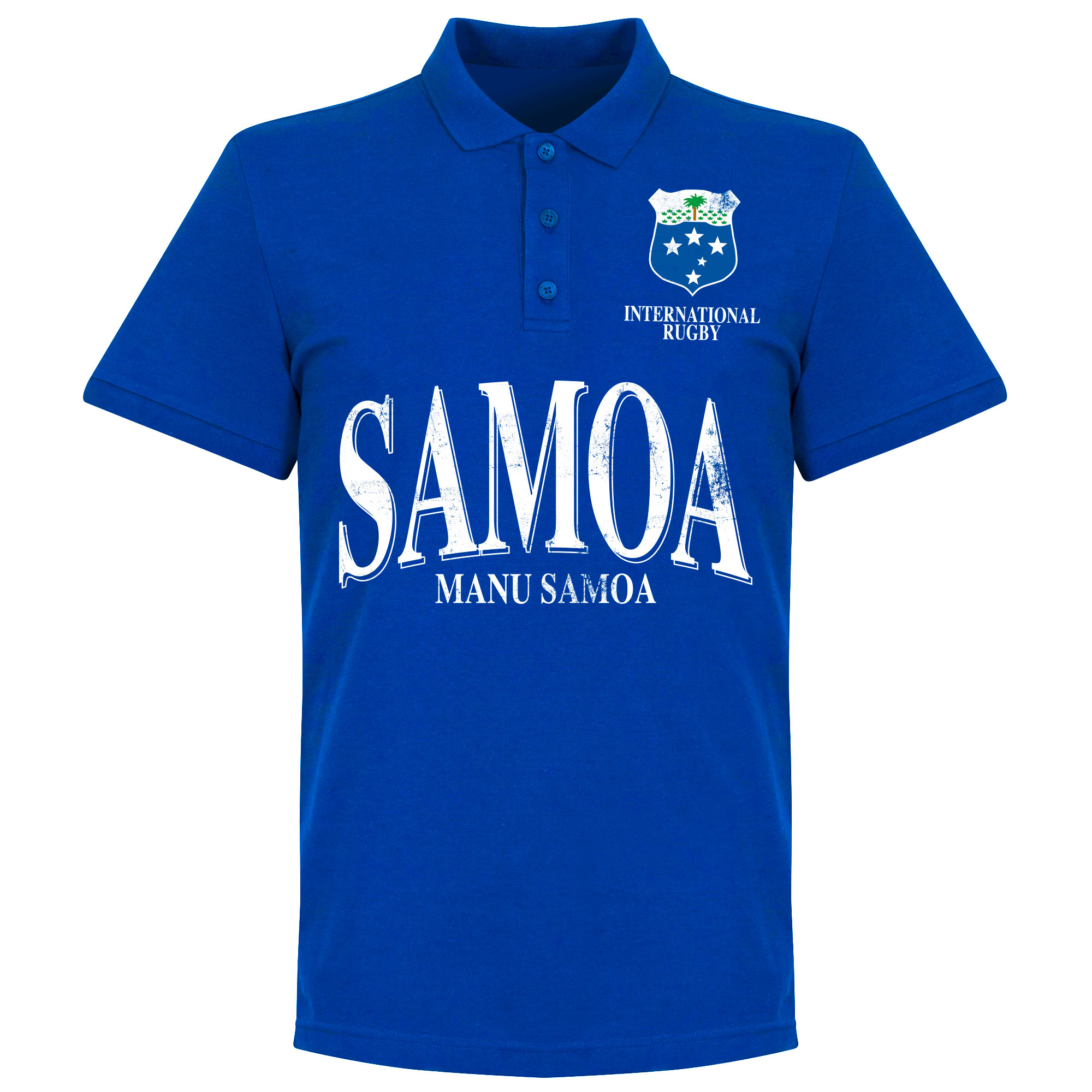 Samoa Rugby Polo - Blauw - M