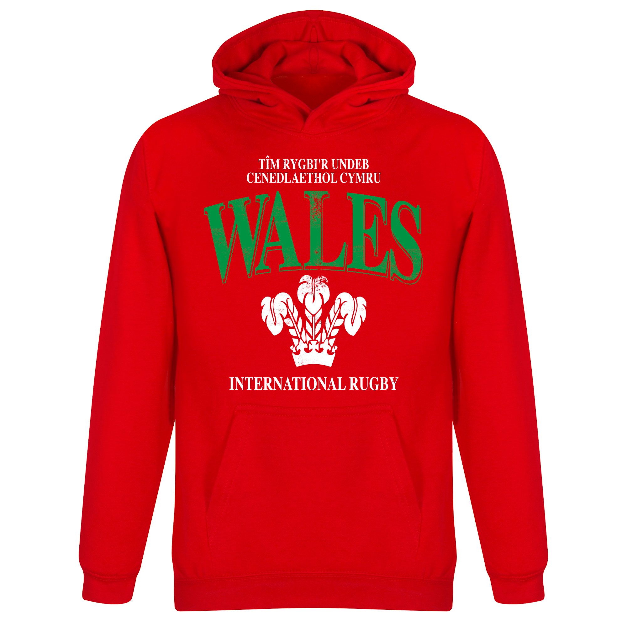 Wales Rugby Hooded Sweater - Rood - Kinderen