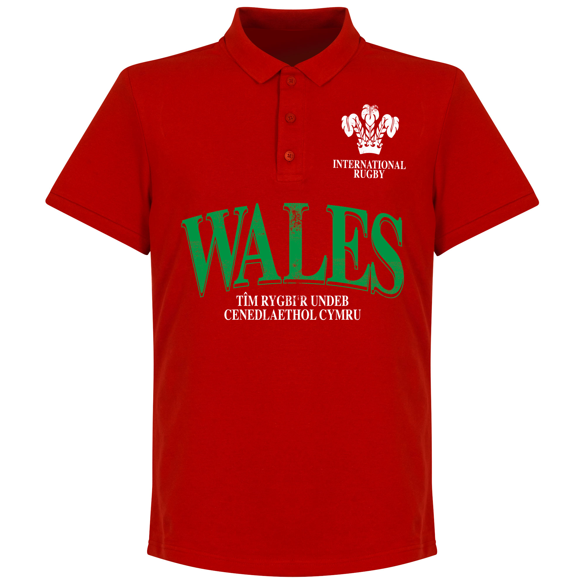 Wales Rugby Polo - Rood - XXL