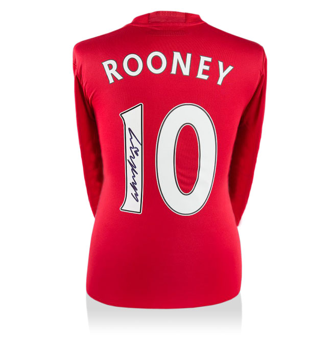 Wayne Rooney Signed Man Utd 16-17 Home Long Sleeved Shirt (Back Signed)