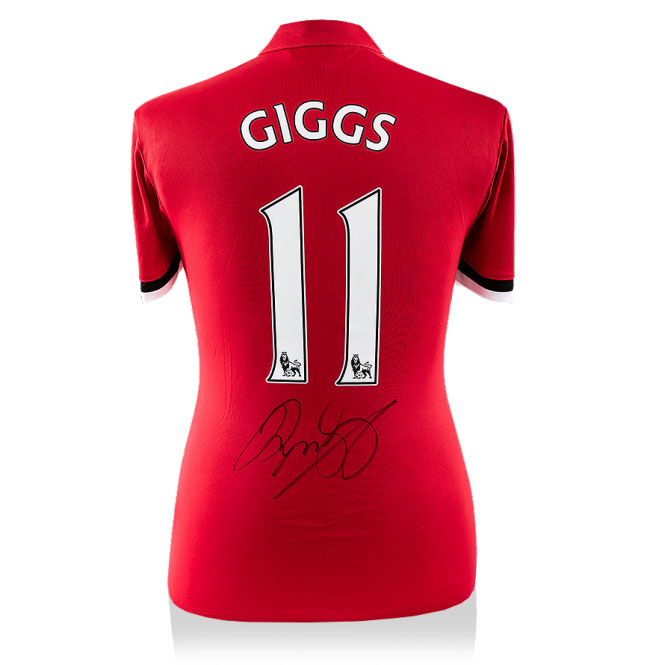 Ryan Giggs Signed Man Utd 17-18 Home Shirt (Back Signed)