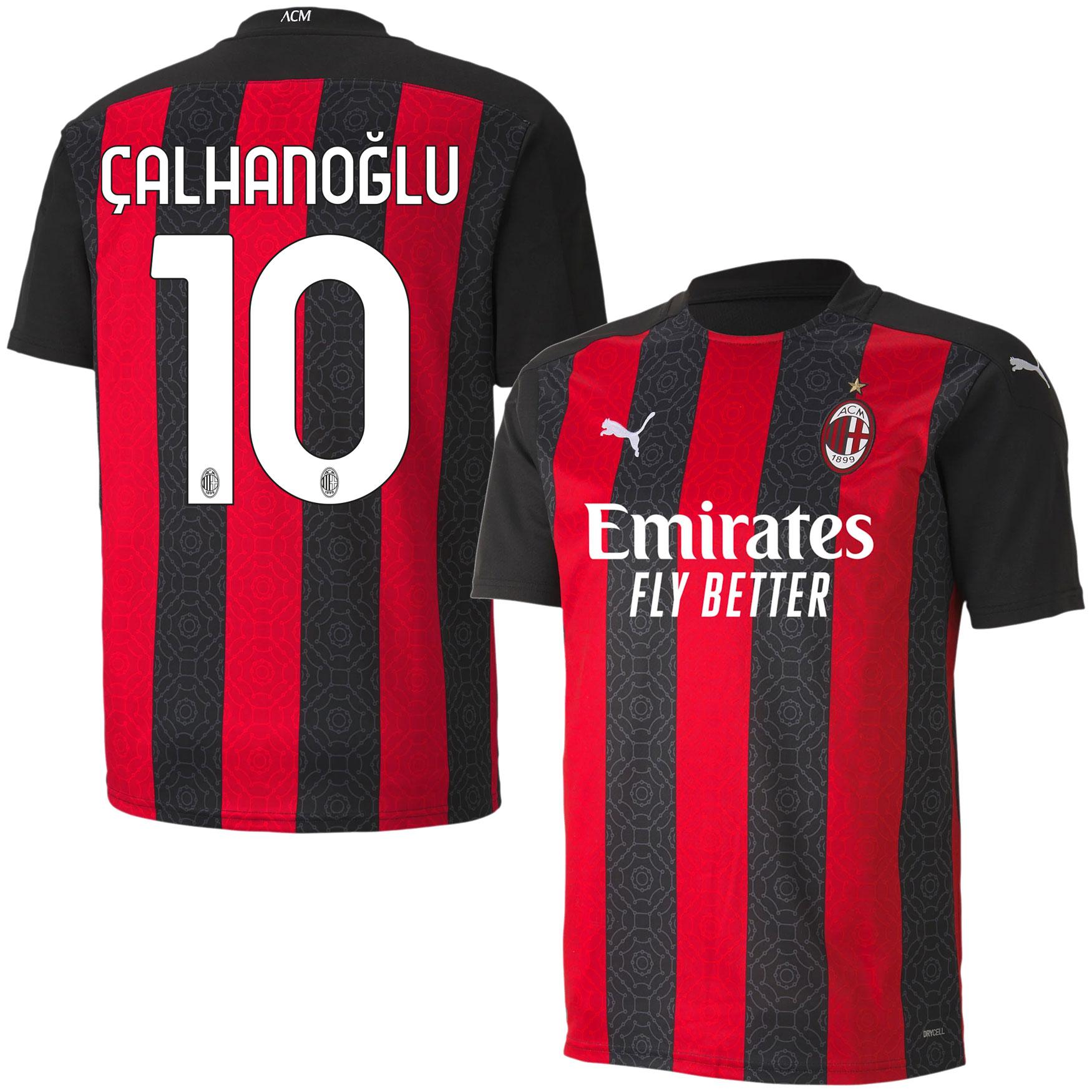 AC Milan Shirt Thuis 2020-2021 + Calhanoglu 10