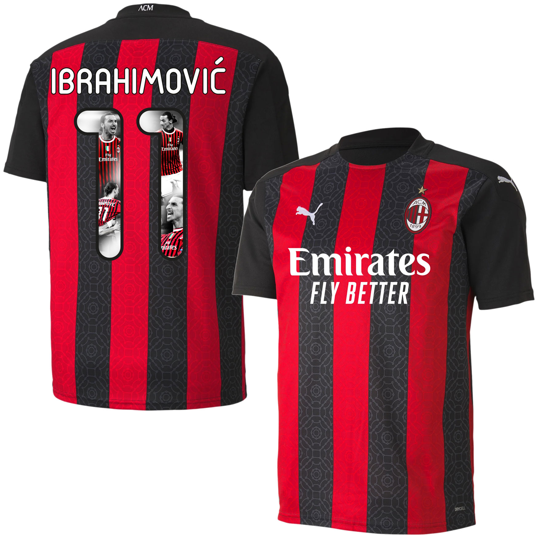 AC Milan Shirt Thuis 2020-2021 + Ibrahimovic 11 (Gallery Style)
