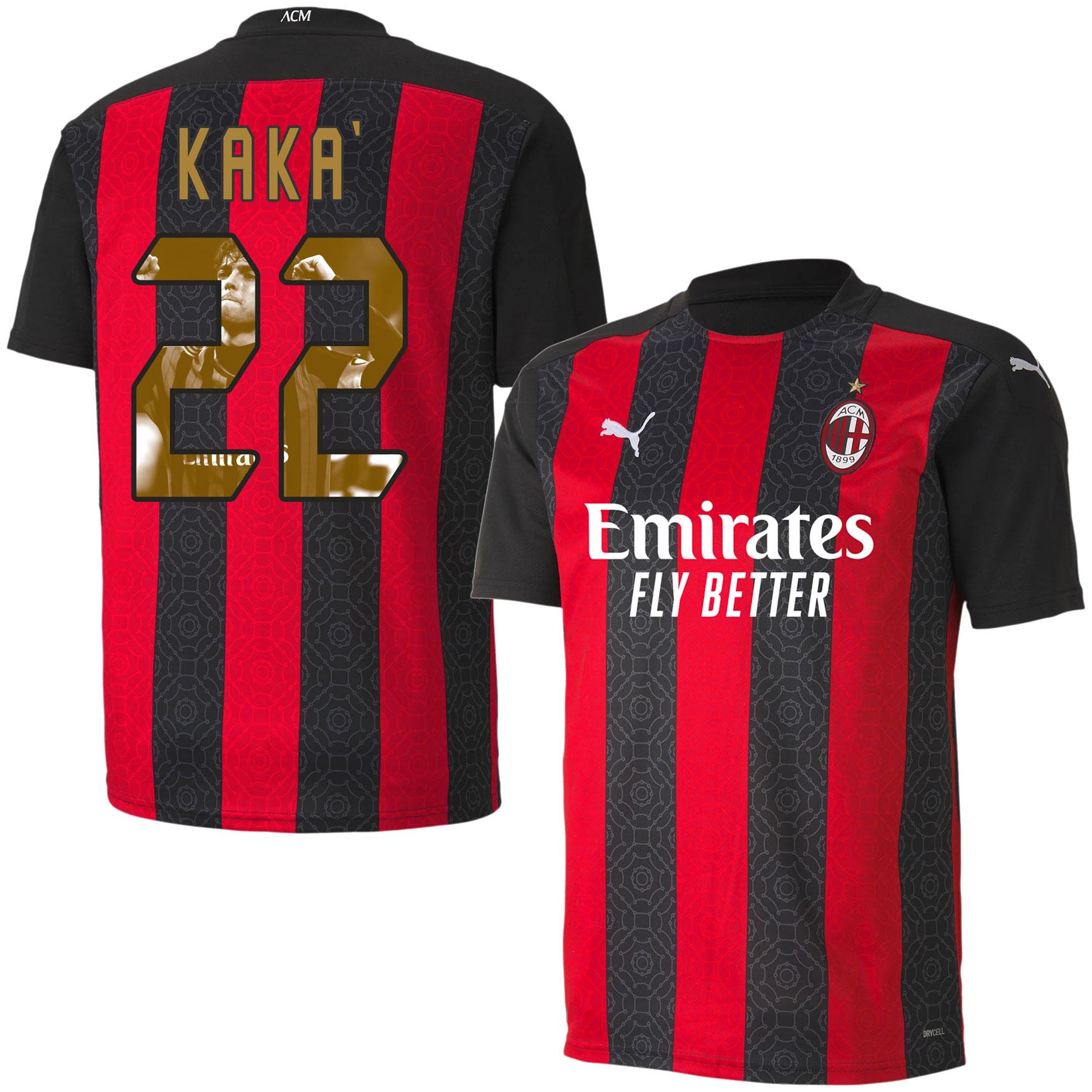 AC Milan Shirt Thuis 2020-2021 + Kaka 22 (Gallery Style)