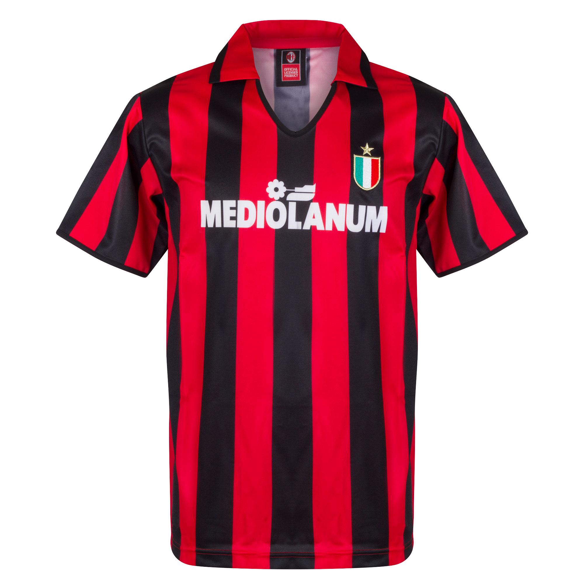 Score Draw AC Milan Home Retro Shirt 1988-1989