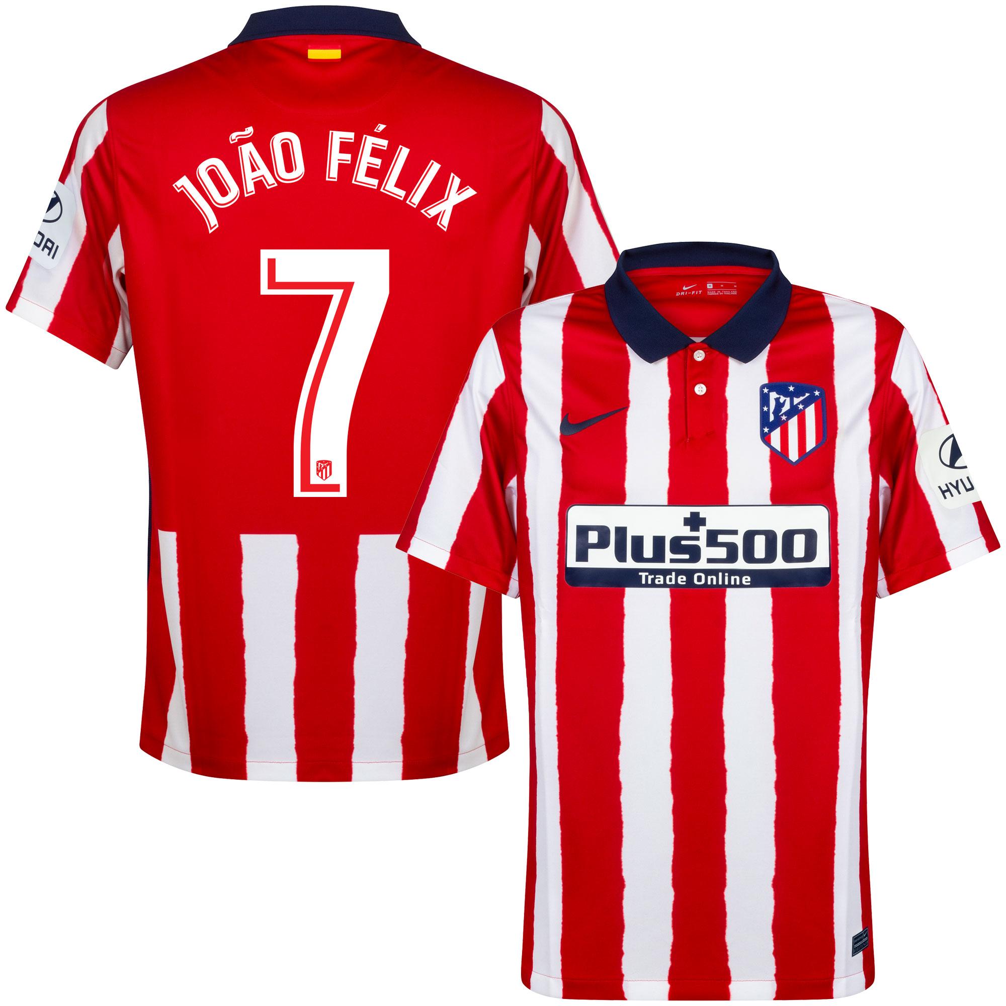 Atletico Madrid Shirt Thuis 2020-2021 + João Félix 7
