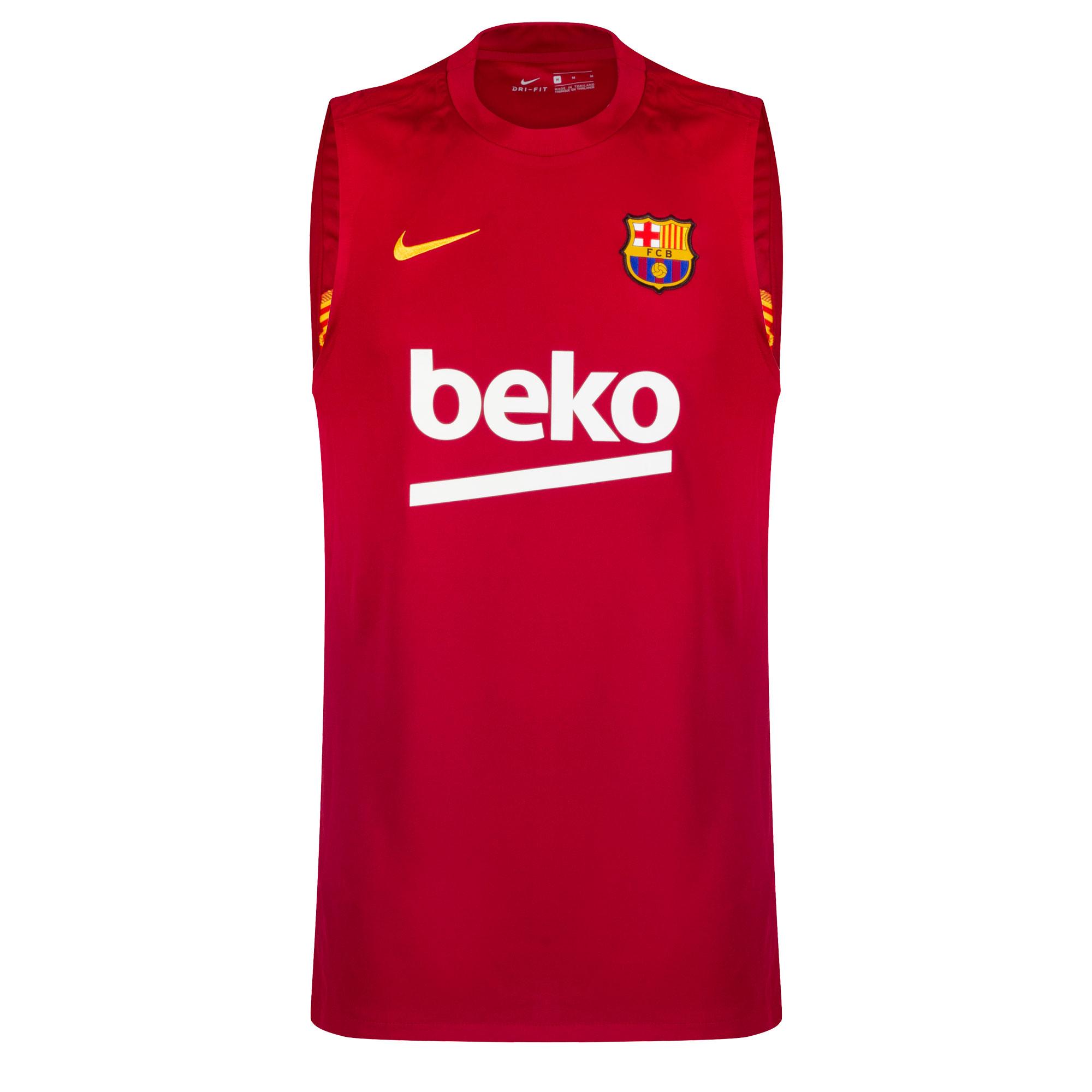 Barcelona Breathe Strike Sleeveless Trainingsshirt 2020-2021 - Rood