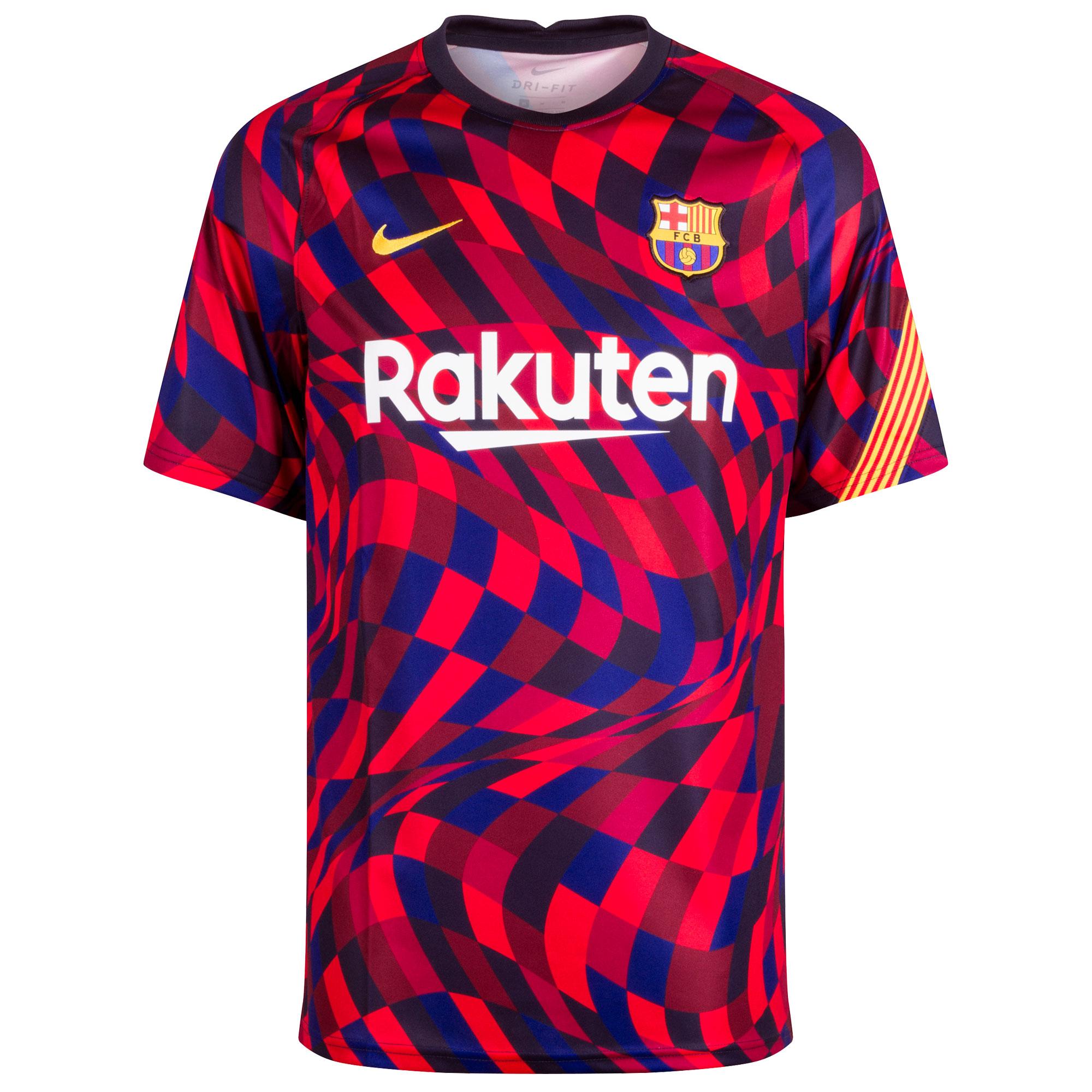 Barcelona Warming- Up Shirt 2020-2021 - Rood/Blauw - L