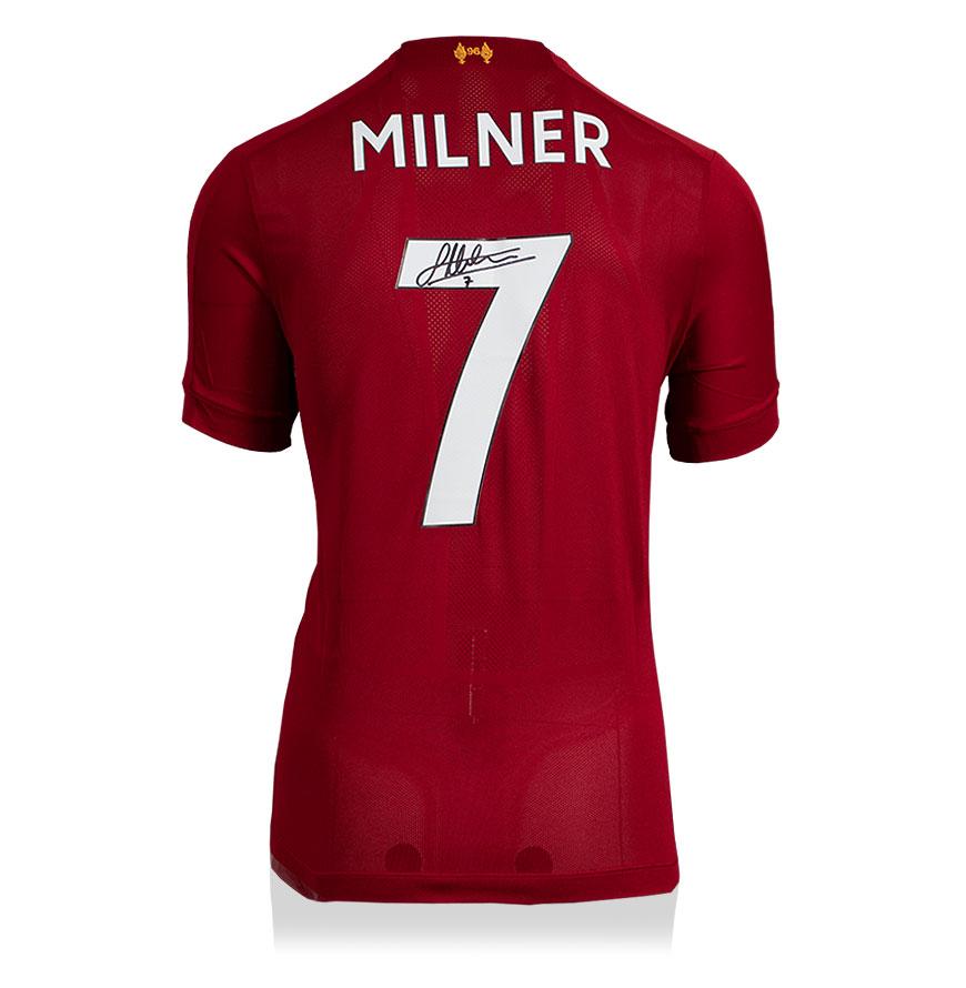 James Milner Back Signed Liverpool Home Shirt 2019-2020