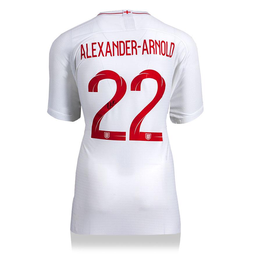 Trent Alexander-Arnold Back Signed England Home Shirt 2018-2019