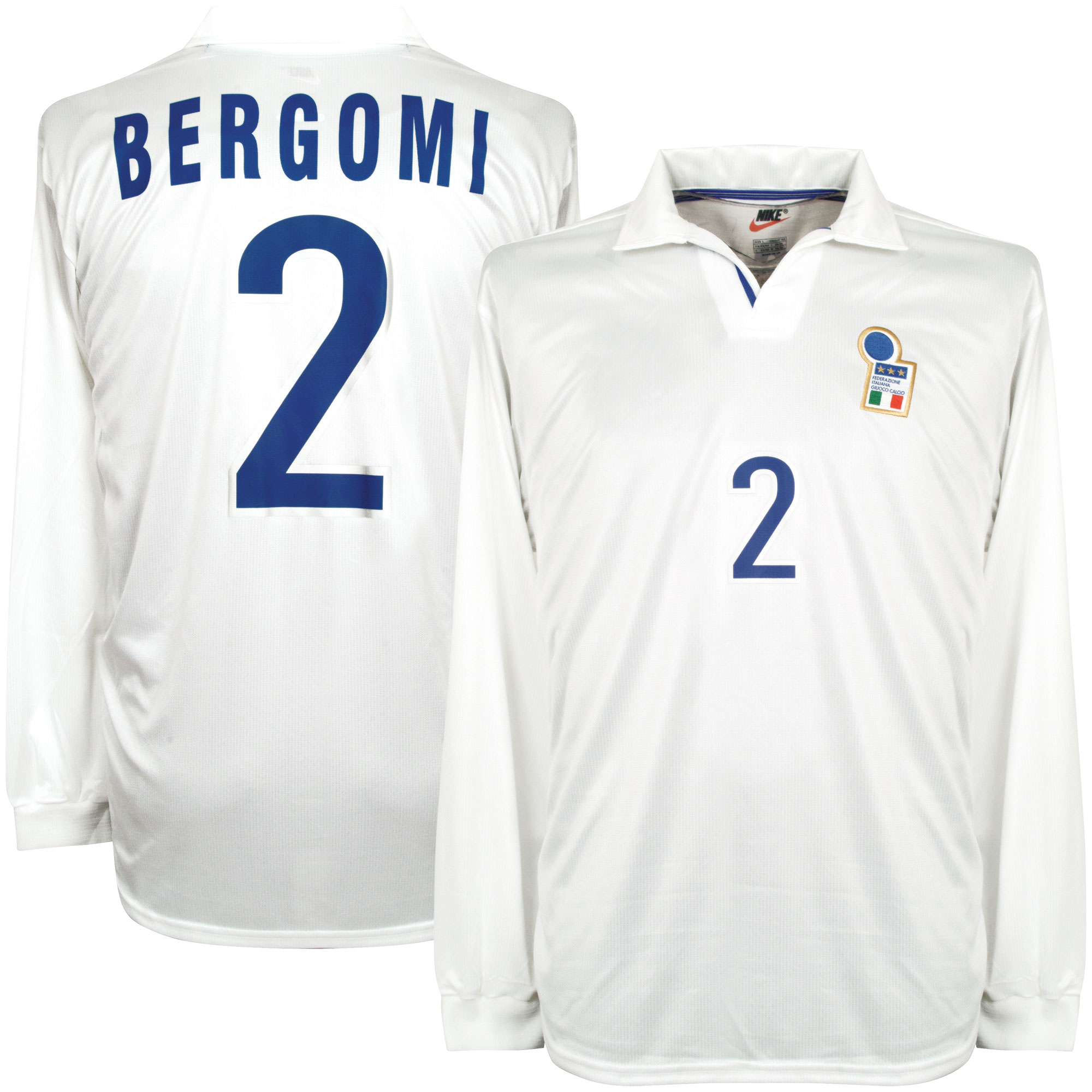 Nike Italy 1998-1999 Away Shirt L/S New (w/tags) Condition (Great) Match Issue BERGOMI #2 - Size