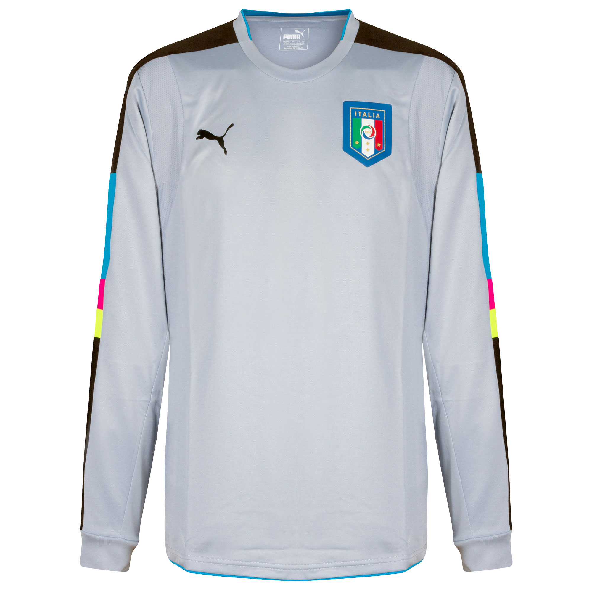 Puma Italy L/S Authentic Player Issue GK Shirt - Grey 2016-2017