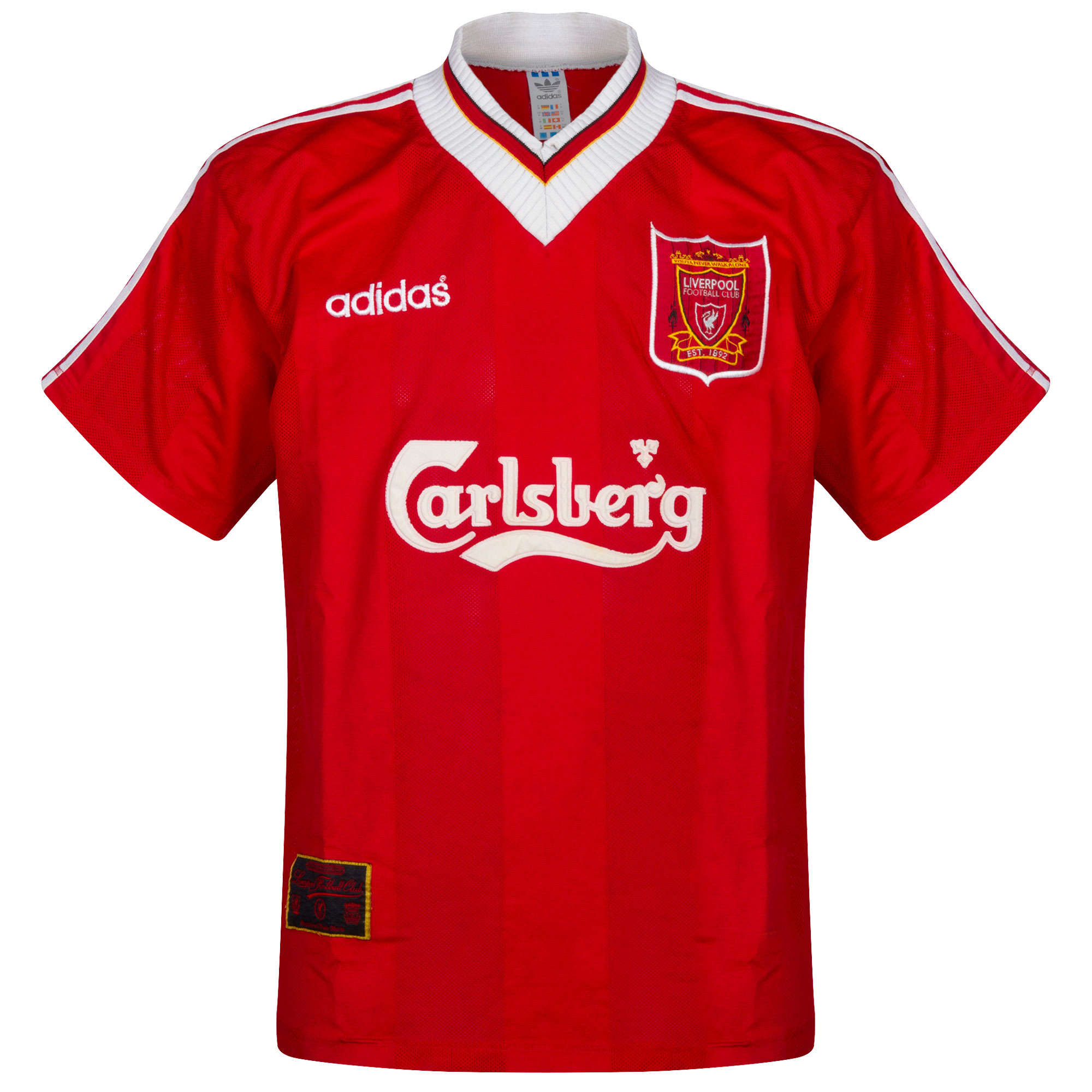 adidas Liverpool 1995-1996 Home Shirt USED Condition (Damaged)