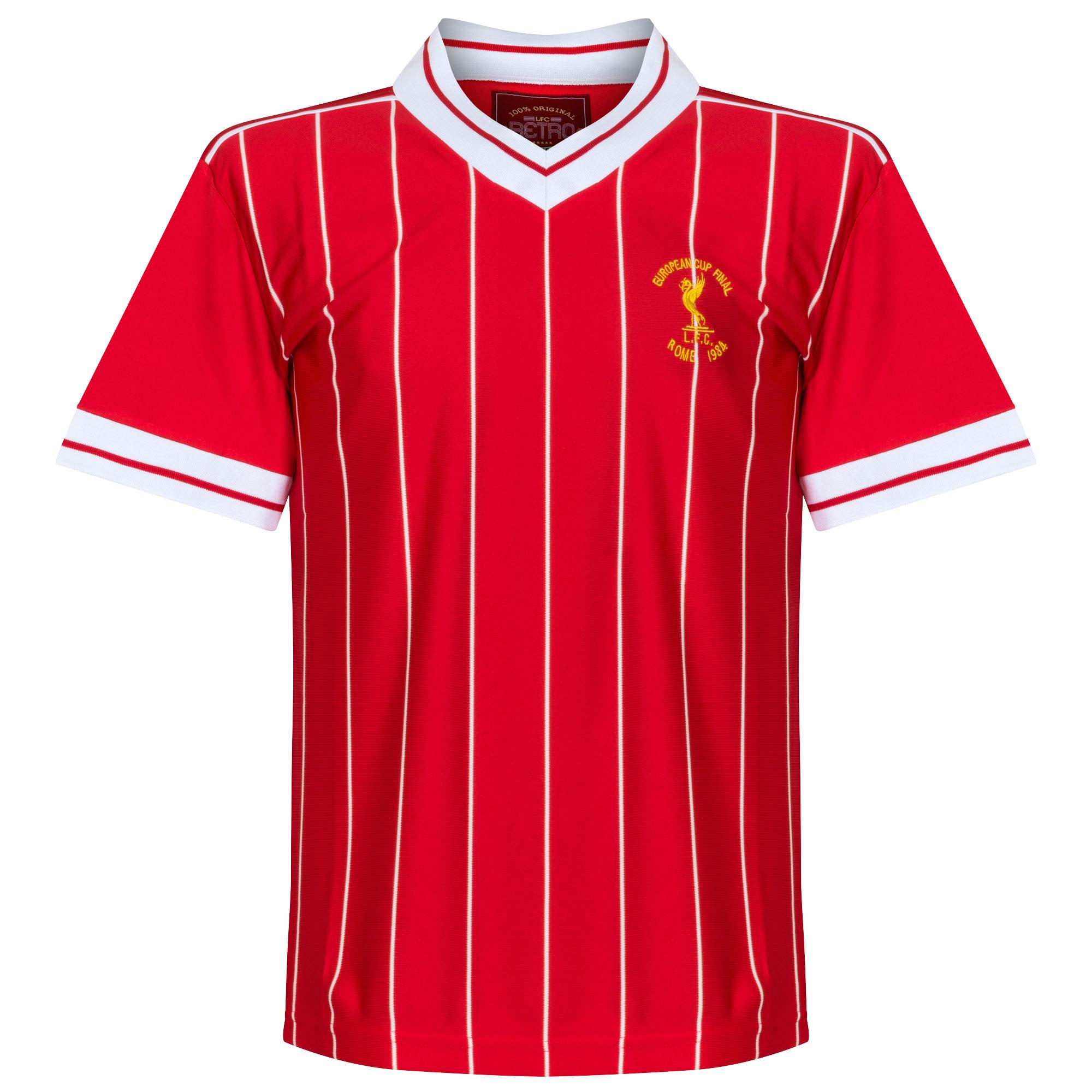 Liverpool European Cup Final Retro Shirt Rome 1984