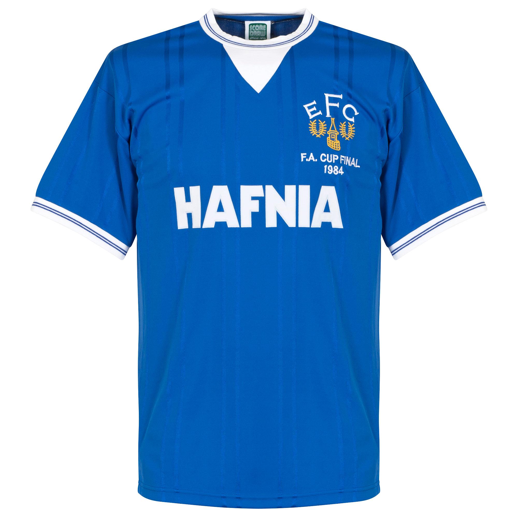 Score Draw Everton Home FA Cup Final Retro Shirt 1983-1984
