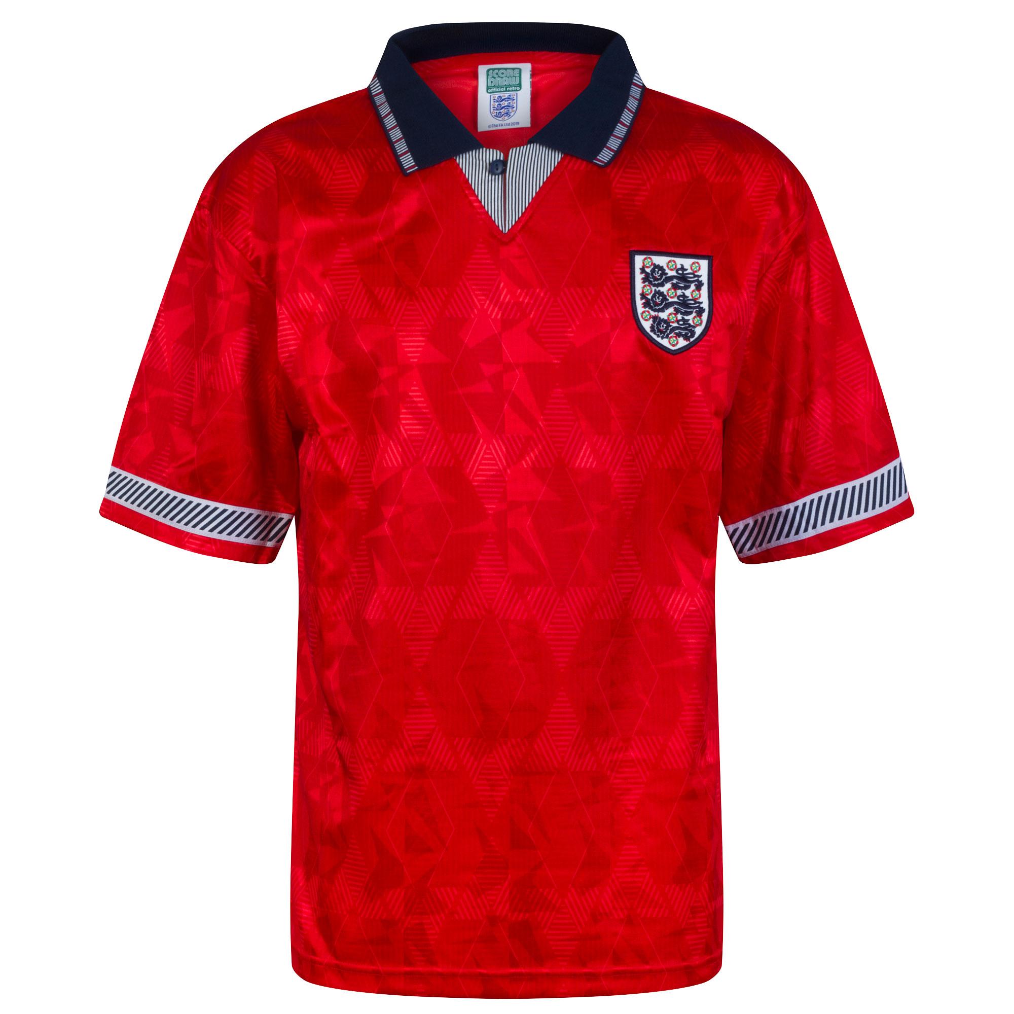 Score Draw England Away Retro Shirt World Cup 1990