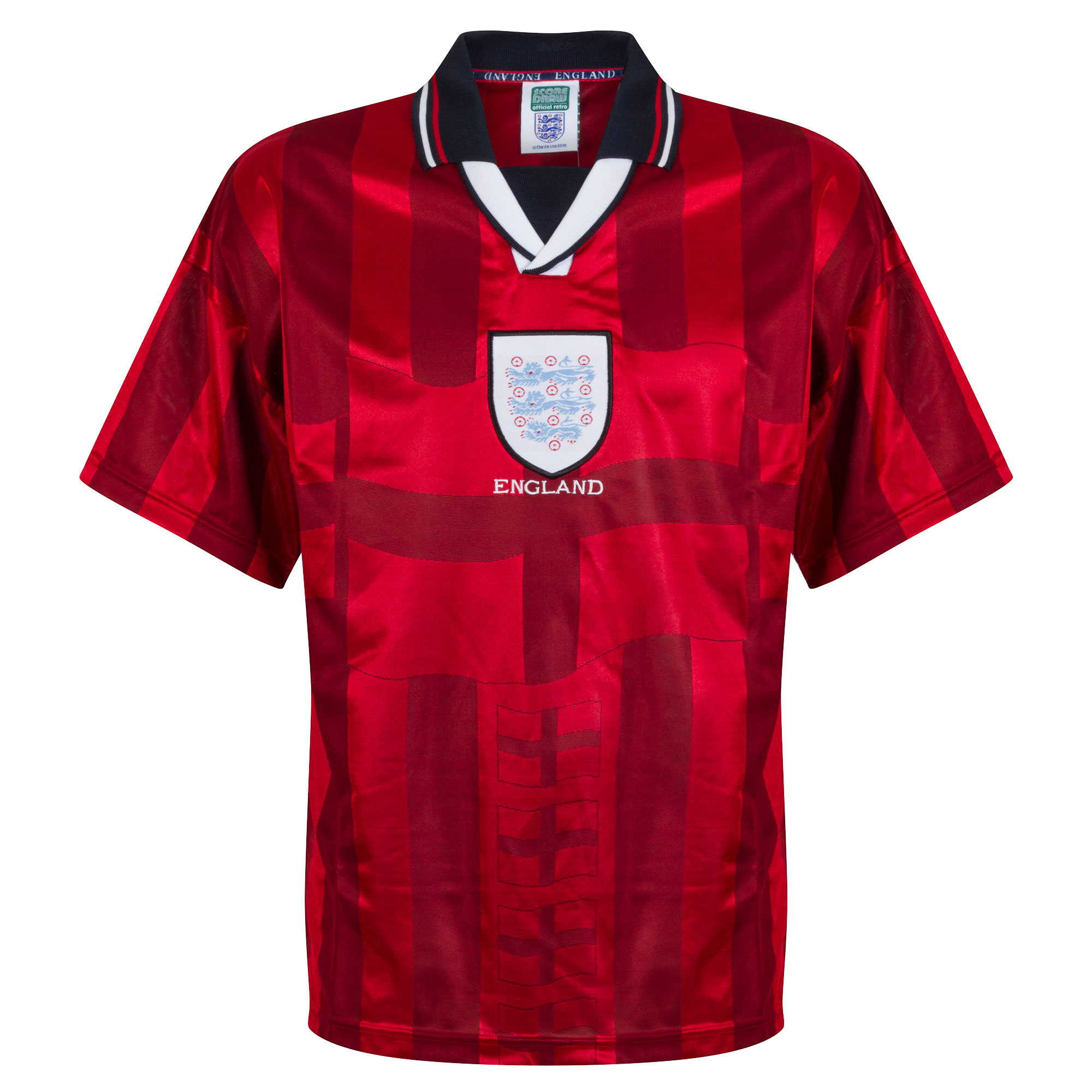Score Draw England Away Retro Shirt World Cup Finals 1998