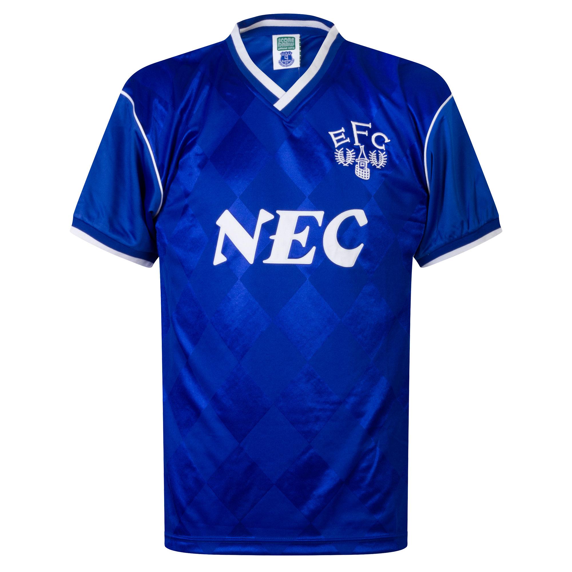Score Draw Everton Home Retro Shirt 1986-1988