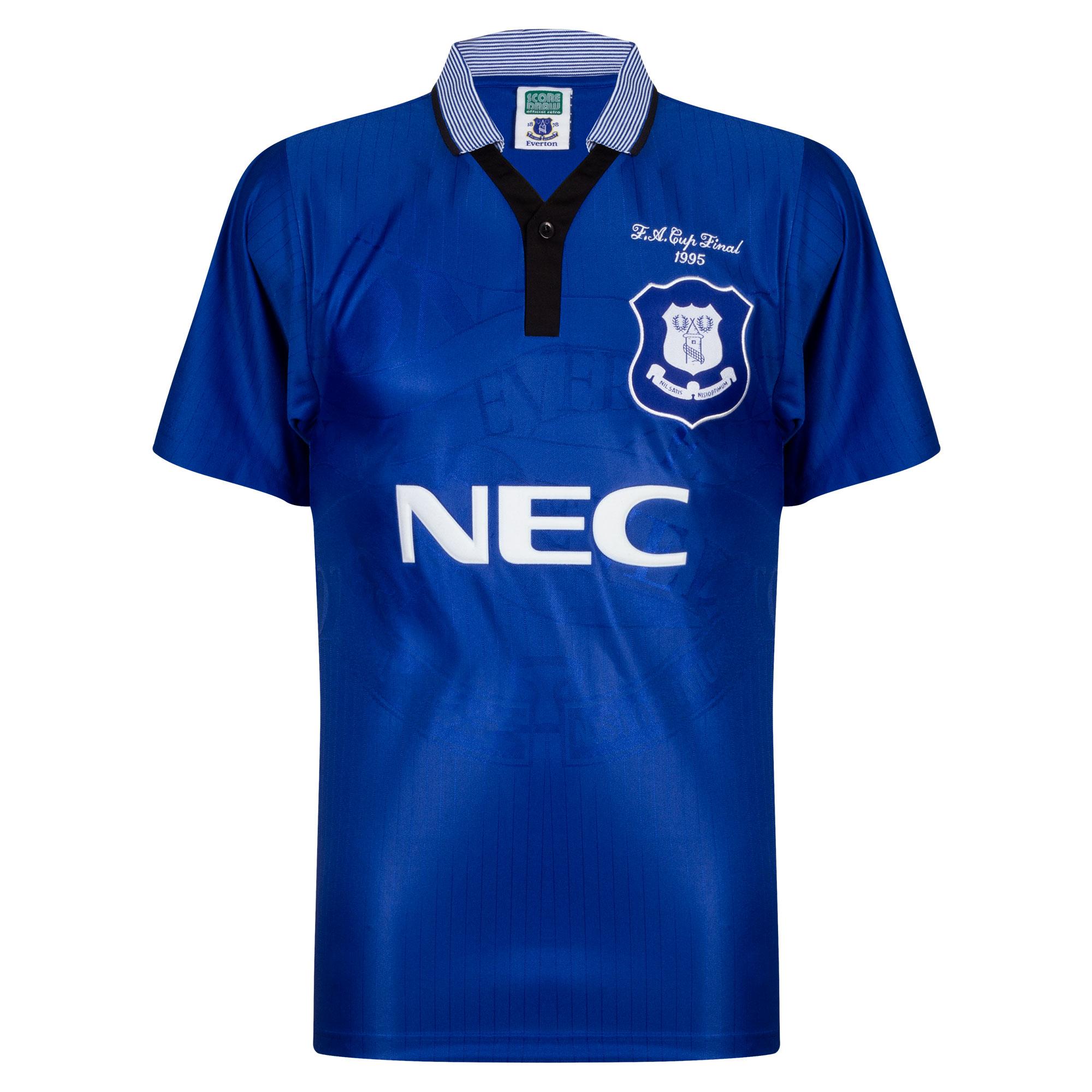 Score Draw Everton Home Retro Shirt FA Cup Final 1985