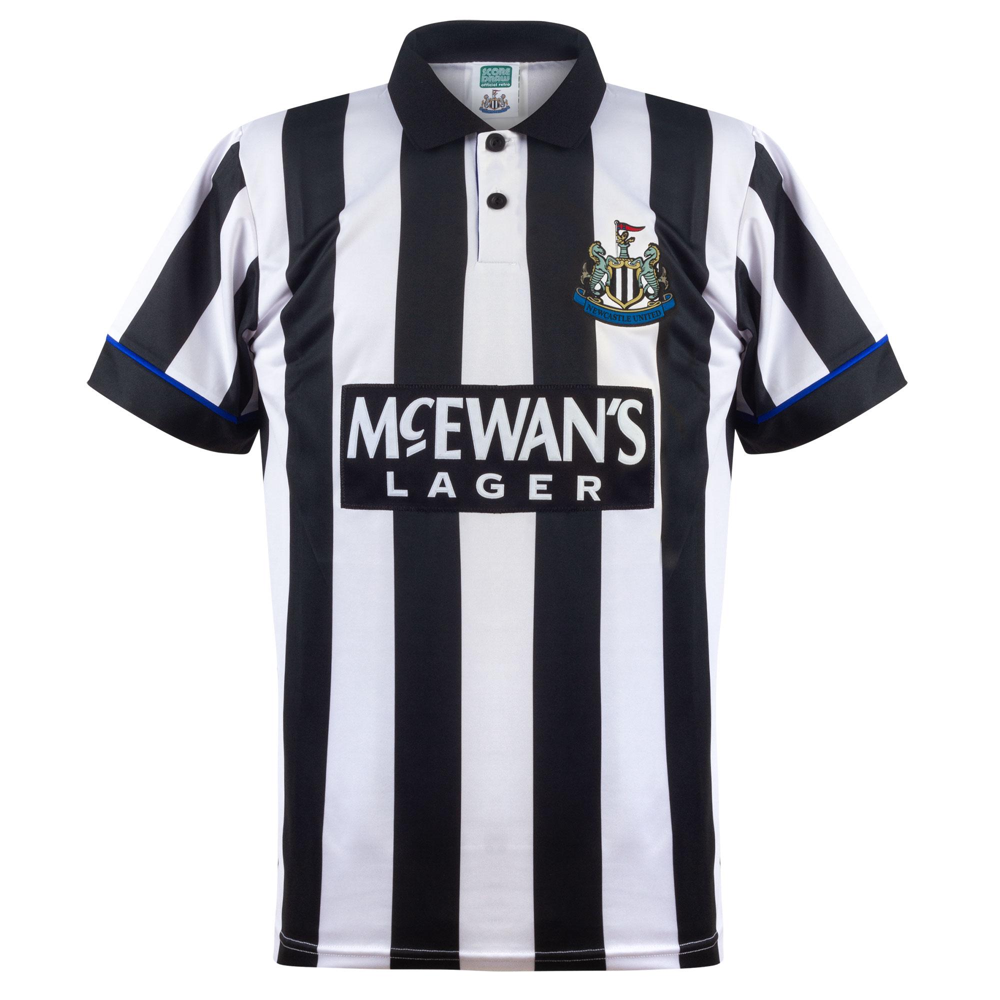 Score Draw Newcastle United Home Retro Shirt 1994-1995