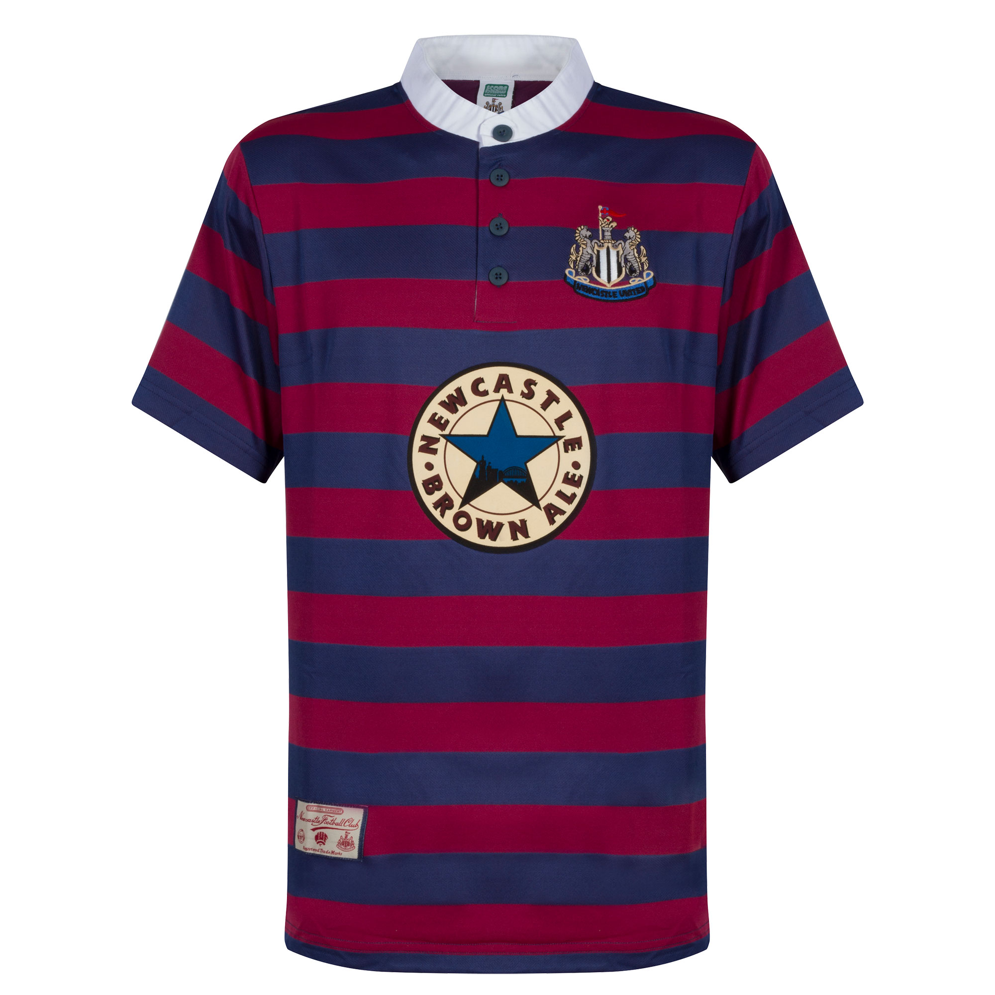 Score Draw Newcastle Utd Away Retro Shirt 1996-1997