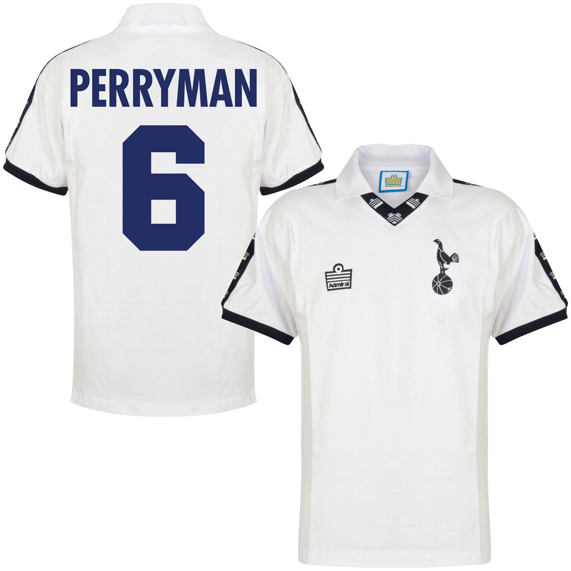 Admiral Tottenham Hotspur Home Perryman 6 Retro Shirt 1977-1978