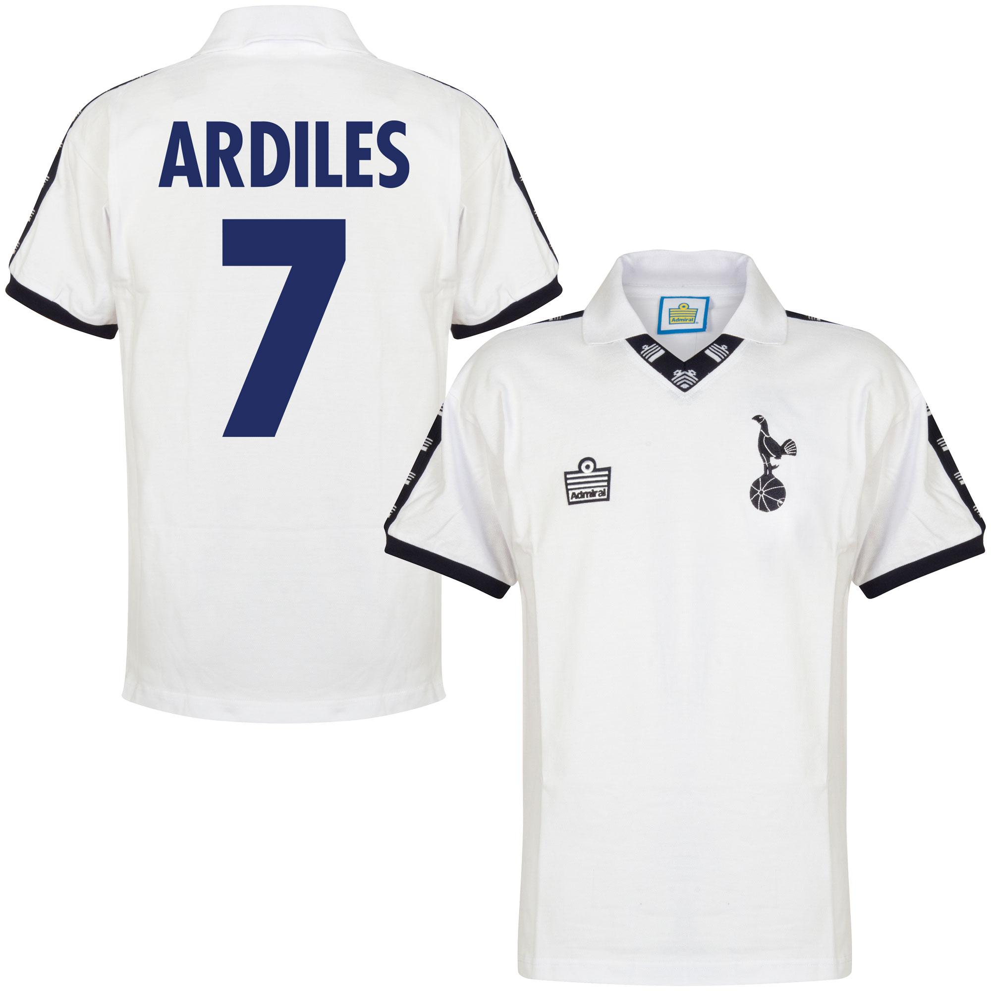 Admiral Tottenham Hotspur Home Ardiles 7 Retro Shirt 1977-1978