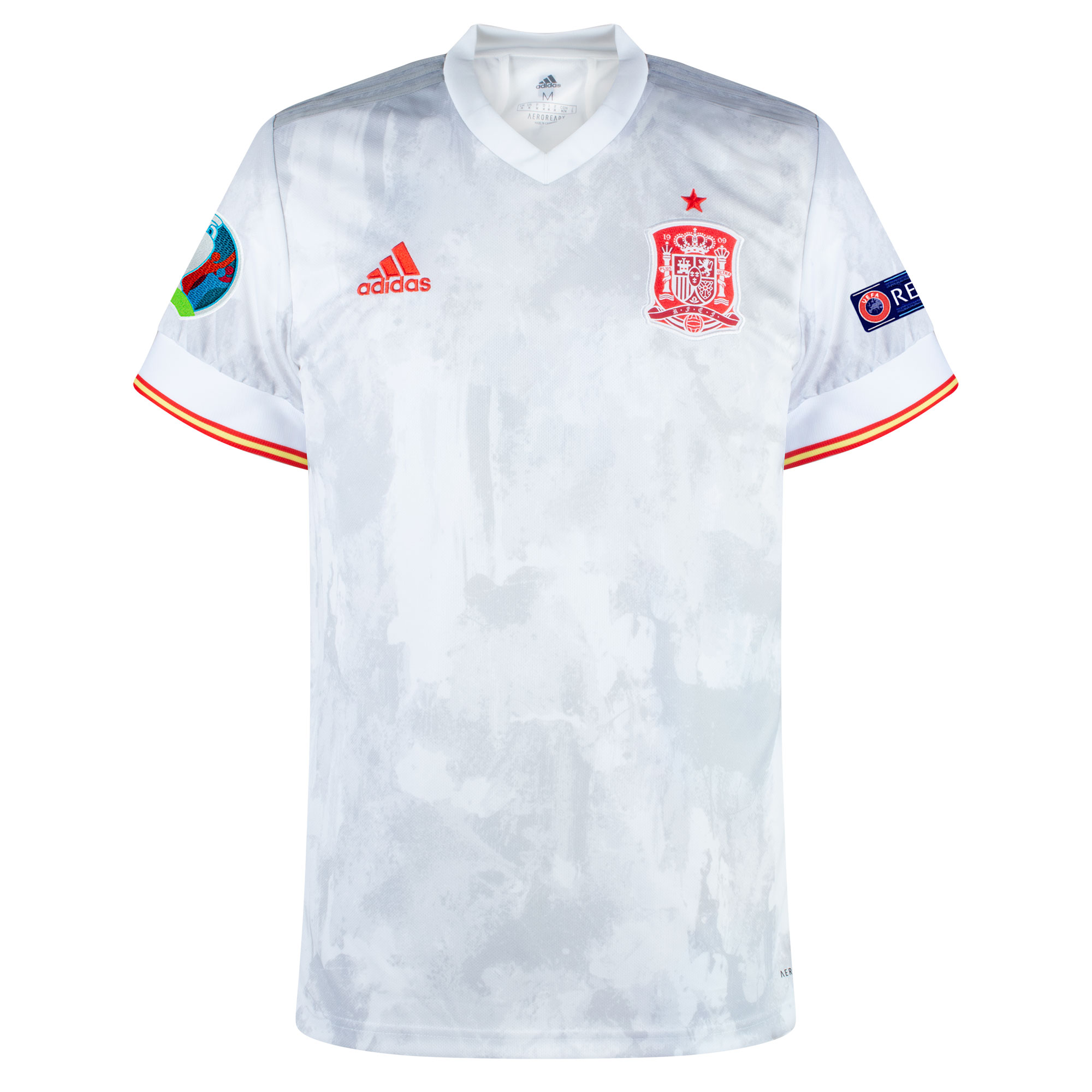 adidas Spain Away Shirt inc. Official Euro 2020 & Respect Patches