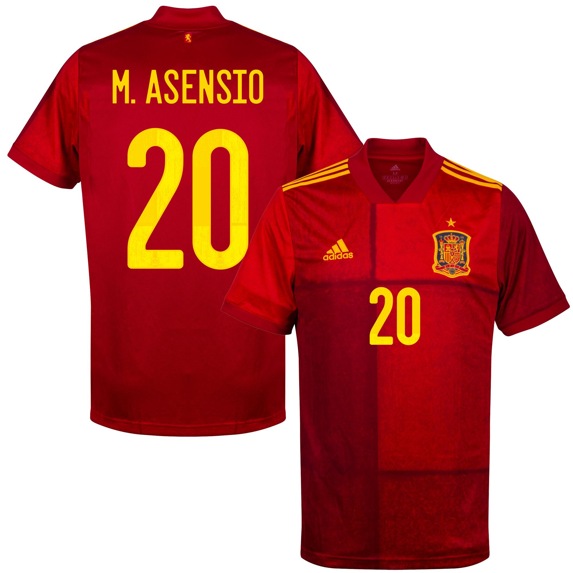 adidas Spain Home M. Asensio 20 Shirt 2020-2021